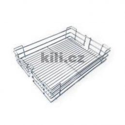 Závěsný koš KOMFORT pro potravinovou skříň 400 mm, celodrátěný, chrom, 1001008001