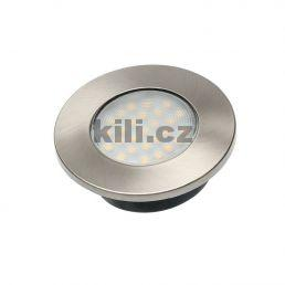 LED světlo Vasco bodové kulaté nerez 1,5W- studená