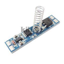 Spínač a stmívač do LED lišty kapacitní s pružinkou 12V 8A pro pásky, s pamětí