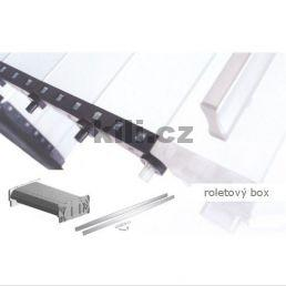 Roletka Vetro LineRSbox3/Al/01sat - sklo satinato black/hliník