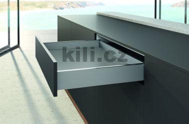 Kompletní zásuvka AvanTech YOU stříbrná 77 mm 500 mm 40 kg s tlumením